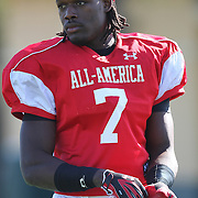 Jadeveon Clowney during the practice session at the Walt Disney Wide World of Sports Complex in preperation for the Under Armour All-America high school football game on December 3, 2011 in Lake Buena Vista, Florida. (AP Photo/Alex Menendez)