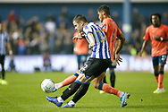 Dominic Calvert-Lewin of Everton challenges Jordan Thorniley of Sheffield Wednesday during the EFL Cup match between Sheffield Wednesday and Everton at Hillsborough, Sheffield, England on 24 September 2019.