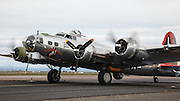 Boeing B-17 Flying Fortress, Madras Maiden during engine tests.
