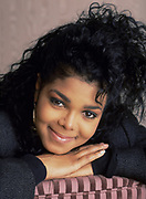 Janet Jackson at the Inn On The Park Hotel, London, 1987.