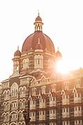 View of Taj Mahal Palace Hotel seen during sunset, Mumbai, India