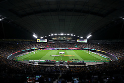 A general view of the Sapporo Dome during the opening ceremony ahead of the 2019 Rugby World Cup Pool D match at Sapporo Dome.