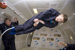 Physicist Stephen Hawking experiences a very weight moment during a flight on Zero Gravity jet, near Florida on April 26, 2007. Photo by Zero G via Balkis Press/ABACAPRESS.COM    121247_02 Orlando