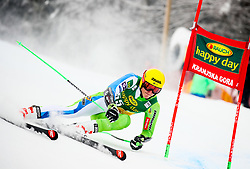 Stefan Hadalin of Slovenia competes during 1st run of Men's GiantSlalom race of FIS Alpine Ski World Cup 57th Vitranc Cup 2018, on March 3, 2018 in Kranjska Gora, Slovenia. Photo by Ziga Zupan / Sportida