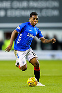 Alfredo Morelos (#20) of Rangers on the ball during the Ladbrokes Scottish Premiership match between Hibernian and Rangers at Easter Road, Edinburgh, Scotland on 19 December 2018.