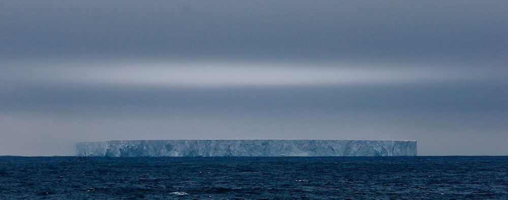 Iceblink over massive iceberg in the Southern Ocean February 7th 2007, seen from the Greenpeace ship Esperanza, during expedition to find Japanese whaling fleet.