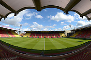 a General view of the Sir. Elton John Stand before k/o. Barclays Premier League, Watford v Swansea city at Vicarage Road in London on Saturday 12th September 2015.<br /> pic by John Patrick Fletcher, Andrew Orchard sports photography.