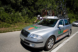 Team Sava Kranj at 2nd stage of Tour de Slovenie 2009 from Kamnik to Ljubljana, 146 km, on June 19 2009, Slovenia. (Photo by Vid Ponikvar / Sportida)