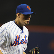 Wilmer Flores, New York Mets, crying while fielding at short stop after learning he had been traded to the Milwaukee Brewers during the New York Mets Vs San Diego Padres MLB regular season baseball game at Citi Field, Queens, New York. USA. 29th July 2015. Photo Tim Clayton