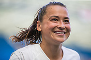 Ali Riley (Capt) (New Zealand) following the 0-1 win by New Zealand FC after the FIFA Women's World Cup UEFA warm up match between England Women and New Zealand Women at the American Express Community Stadium, Brighton and Hove, England on 1 June 2019.