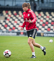 NEWPORT, WALES - Monday, September 19, 2016: Wales' Gemma Evans warms up ahead of the UEFA Women's Euro 2017 Qualifying Group 8 match at Rodney Parade. (Pic by Laura Malkin/Propaganda)