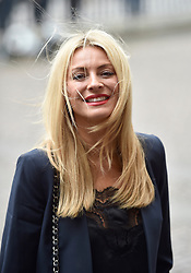 Tess Daly arrives for the Service of Thanksgiving for Sir Terry Wogan at Westminster Abbey, London.
