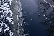 Cornwall, New York - Ice on the Moodna Creek on Jan. 1, 2015.