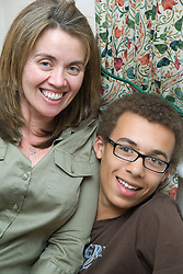 Portrait of a mother and son,
