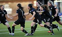 Fotball<br /> UEFA European Women's Under-19 Championships<br /> Group B<br /> Mjøndalen 18.07.2014<br /> Irland v England 2:1<br /> Foto: Morten Olsen, Digitalsport<br /> <br /> Ireland celebrating 2:1 scored by Keeva Keenan (7) <br /> Hayley Nolan (15)<br /> Amy O'Connor (8)