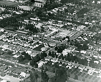 1922 Aerial of Charles Chaplin Studio on La Brea Ave