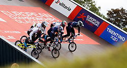 The riders start their quarter finals heat 2 race during day ten of the 2018 European Championships at the Glasgow BMX Centre Track.