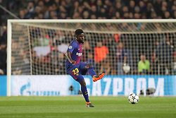 March 14, 2018 - Barcelona, Spain - SAMUEL UMTITI of FC Barcelona during the UEFA Champions League, round of 16, 2nd leg football match between FC Barcelona and Chelsea FC on March 14, 2018 at Camp Nou stadium in Barcelona, Spain (Credit Image: © Manuel Blondeau via ZUMA Wire)