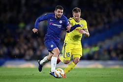 Chelsea's Mateo Kovacic (left) and BATE Borisov's Maksim Skavysh battle for the ball during the UEFA Europa League, Group L match at Stamford Bridge, London.