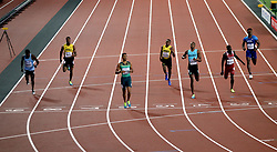 South Africa's Wayde van Niekerk (third left) wins the Men's 400m Final during day five of the 2017 IAAF World Championships at the London Stadium.