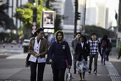 June 11, 2017 - São Paulo registrou temperatura média de 8,7° no início desta manhã de domingo (11). Segundo o CGE a máxima prevista para o dia não deve superar os 21(Credit Image: © Bruno Rocha/Fotoarena via ZUMA Press)