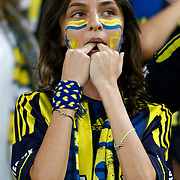 Fenerbahce's supporters during their UEFA Europa League Group Stage Group C soccer match Fenerbahce between Marseille at Sukru Saracaoglu stadium in Istanbul Turkey on Thursday 20 September 2012. Photo by TURKPIX