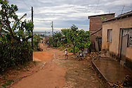 Lane in Gibara, Holguin, Cuba.