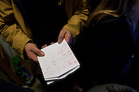 4 March 2012- Palermo, Italy: Primaries elections night at Rita Borsellino headquarters in Palermo. Rita Borsellino lost the primaries campaign for a difference of 68 votes. Fabrizio Ferrandelli, 31, will be the centre left candidate in the local elections for the city of Palermo in May 2012.  ### 4 marzo 2012 - Palermo, Italia. Notte delle primarie nella sede del comitato di Rita Bosellino a Palermo. Rita Borsellino ha perso per 68 voti contro Fabrizio Ferrandelli. Fabrizio Ferrandelli, 31 anni, saraà il candidato del centrosinistra alle elezioni amministrative di Palermo nel maggio 2012.