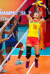 19-10-2018 JPN: Semi Final World Championship Volleyball Women day 18, Yokohama<br /> China - Italy / Xia Ding #16 of China