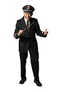 Cardboard cutout of retiring University of Wisconsin-Madison Marching Band Director<br />  Mike Leckrone. (Photo © Andy Manis)