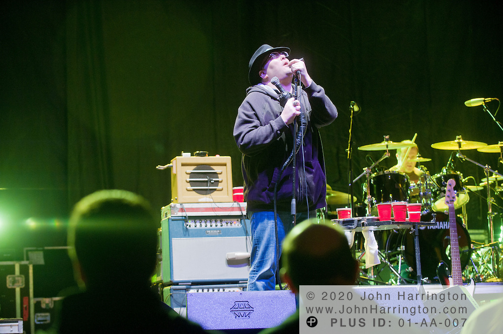 """John Popper of Blues Traveler performs at a free concert at the """"Slurpee Summit"""" held in Washington, D.C., on Thursday, November 18, 2010. Following President Obama's statement that Slurpee is a """"delicious drink,"""" 7-Eleven and Slurpee have been offering free Slurpee drinks to our nation's people en route to the Summit in Washington, D.C."""