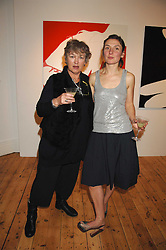Left to right, MAGGIE LAW and her daughter artist NATASHA LAW at an exhibition of artist Natasha Law's work entitled 'Room' hosted by the Eleven gallery in association with Ruinart champagne at 121 Charing Cross Road, London WC2 on 16th January 2008.  Following the private view a dinner was held at Soho House hosted by Ruinart.<br /> <br />  (EMBARGOED FOR PUBLICATION IN UK MAGAZINES UNTIL 1 MONTH AFTER CREATE DATE AND TIME) www.donfeatures.com  +44 (0) 7092 235465