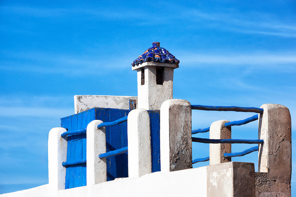 Rooftop of a house in Essaouira.