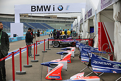 May 18, 2018 - Berlin, Germany - Formula e Berlin ePrix: The photo shows the pit lane. (Credit Image: © Simone Kuhlmey/Pacific Press via ZUMA Wire)