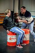 Perspresentatie van de musical The Full Monty<br /> <br /> Op de foto:  Dennis Willekens en Kick Spijkerman