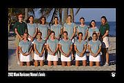 2002 Miami Hurricanes Women's Tennis Team Photo