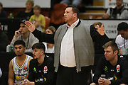EnviroNZ Bulls head coach Jamie Reddish in the Sal's NBL Basketball match, Taylor Hawks v EnviroNZ Bulls, Pettigrew Green Arena, Napier, Saturday, June 26, 2021. Copyright photo: Kerry Marshall / www.photosport.nz