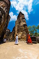 Lankatilaka Vihara , Ruins of ancient city, Polonnaruwa, Sri Lanka.