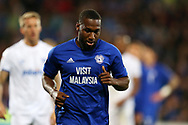 Junior Hoilett of Cardiff city looks on. Carabao Cup, 1st round match, Cardiff city v Portsmouth at the Cardiff city Stadium in Cardiff, South Wales on Tuesday August 8th 2017.<br /> pic by Andrew Orchard, Andrew Orchard sports photography.