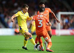 Tom Nichols of Bristol Rovers tackles Dan Potts of Luton Town - Mandatory by-line: Alex James/JMP - 15/09/2018 - FOOTBALL - Kenilworth Road - Luton, England - Luton Town v Bristol Rovers - Sky Bet League One