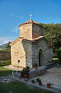 Pictures & images of the medieval church of St. Nino,  Samtavro Monastery,  Mtskheta, Georgia. A UNESCO World Heritage Site. .<br /> <br /> Visit our MEDIEVAL PHOTO COLLECTIONS for more   photos  to download or buy as prints https://funkystock.photoshelter.com/gallery-collection/Medieval-Middle-Ages-Historic-Places-Arcaeological-Sites-Pictures-Images-of/C0000B5ZA54_WD0s<br /> <br /> Visit our REPUBLIC of GEORGIA HISTORIC PLACES PHOTO COLLECTIONS for more photos to browse, download or buy as wall art prints https://funkystock.photoshelter.com/gallery-collection/Pictures-Images-of-Georgia-Country-Historic-Landmark-Places-Museum-Antiquities/C0000c1oD9eVkh9c