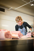Camas Davis of Portland Meat Collective gives a class on butchering a pig at Feast Portland