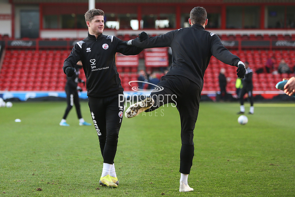 Josh Doherty before the EFL Sky Bet League 2 match between Walsall and Crawley Town at the Banks's Stadium, Walsall, England on 18 January 2020.