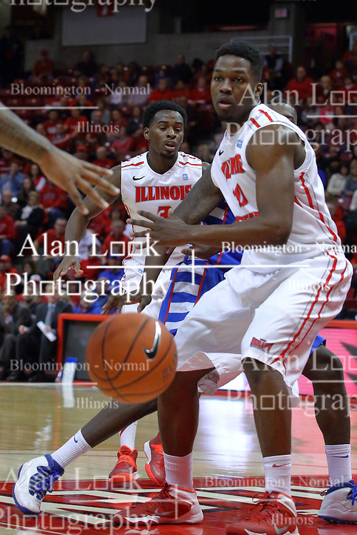 22 December 2013:  John Jones during an NCAA  mens basketball game between the Blue Demons of DePaul falling to  the Illinois State Redbirds 69-64 in Redbird Arena, Normal IL