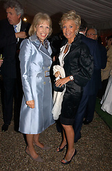 Left to right, LADY HINDLIP and MRS BLUEY MAVROLEON at the annual Chelsea Flower Show dinner hosted by jewellers Cartier at the Chelsea Pysic Garden, London on 22nd May 2006.<br /><br />NON EXCLUSIVE - WORLD RIGHTS