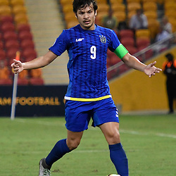 BRISBANE, AUSTRALIA - JANUARY 31: Misagh Bahadoran of Global FC dribbles the ball during the second qualifying round of the Asian Champions League match between the Brisbane Roar and Global FC at Suncorp Stadium on January 31, 2017 in Brisbane, Australia. (Photo by Patrick Kearney/Brisbane Roar)