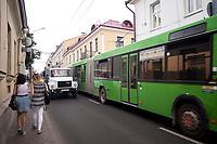 10.07.2017 Grodno Bialorus N/z ulica Marksa w godzinie szczytu fot Michal Kosc / AGENCJA WSCHOD