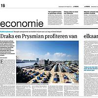 Parool 5 september 2013: Draka overgenomen door Prysmian