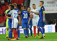 Football - 2017 / 2018 FIFA World Cup Qualifier - UEFA Group F: England vs. Slovakia<br /> <br /> Jake Livermore of England shakes hands with players after coming on as a late substitute which only last 30 seconds at Wembley Stadium.<br /> <br /> COLORSPORT/ANDREW COWIE