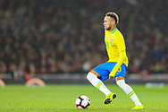 Brazil forward Neymar Jr (10) during the Friendly International match between Brazil and Uruguay at the Emirates Stadium, London, England on 16 November 2018.